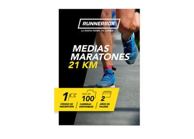 Tarjeta regalo para runners media maratón