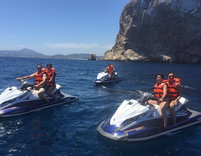 excursion moto agua javea desde moraira