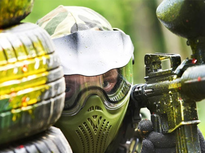 Partida de paintball en Ondara