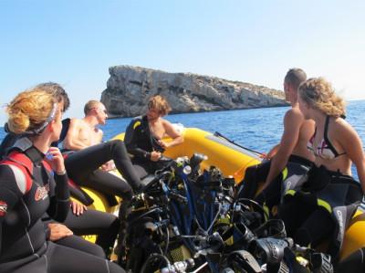 Bautismo de buceo en Benidorm desde embarcación