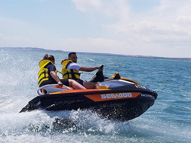 Excursión en moto de agua en Santa Pola para 2 personas