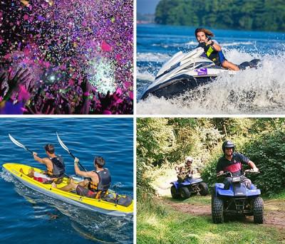 Despedida de soltero en Moto de agua + Quad + Kayak o Paddle Surf por libre en Denia