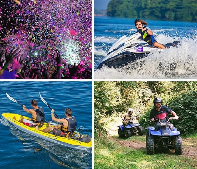 Despedida de soltero en Moto de agua + Quad + Kayak