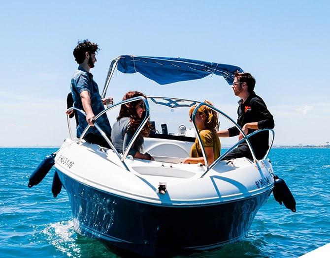 Barco Alquiler Licencia Valencia La Pobla Farnals