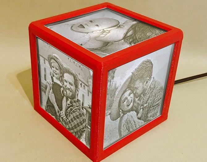 regalo personalizado lampara foto