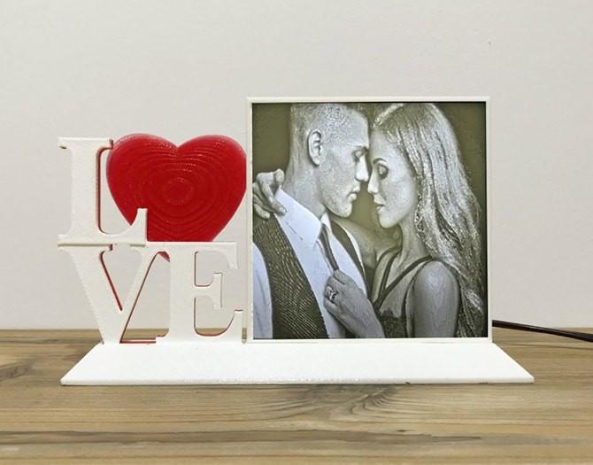 LAMPARA PERSONALIZADA CON FOTO 3D REGALOS ORIGINALES LOVE