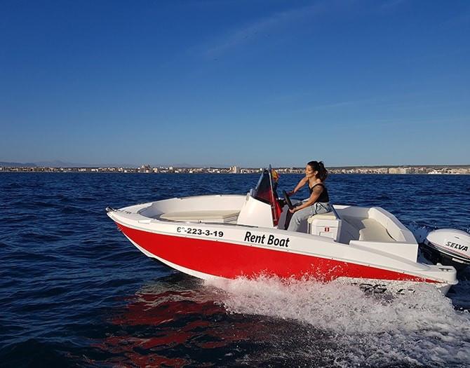 Alquiler Barco Sin Licencia Santa Pola