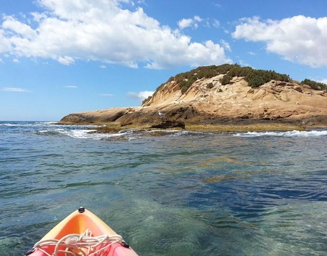 excursion en kayak a la isla de Altea Porto Senso