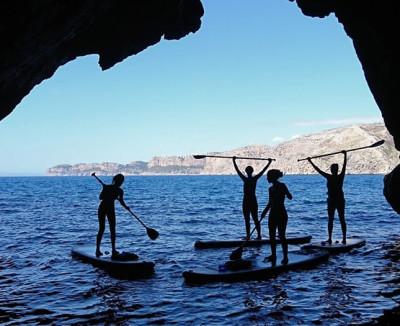 Excursión guiada de Paddle Surf en Cala Granadella Jávea con Snorkel