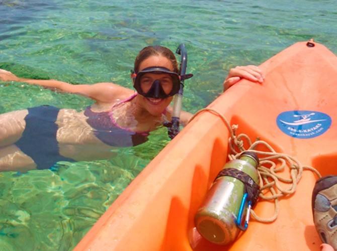 kayak y snorkel peñon de ifach