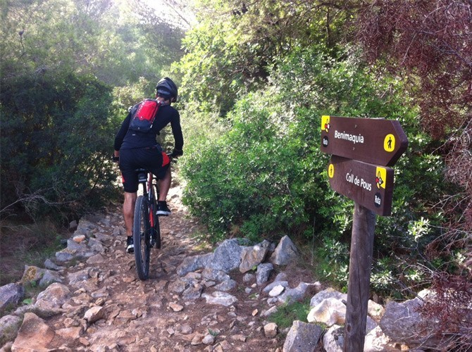 Ruta mountain bike denia, javea y marina alta