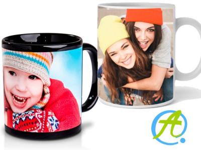 Taza de desayuno personalizada con foto
