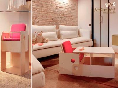 Trona Oueat: Mesa-silla y convertible en espacio de juego