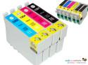 Pack 10 Cartuchos Tinta Impresora Epson. Tinta negro y de color
