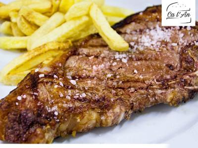 Menú con Entrecot o Atún en Pedreguer