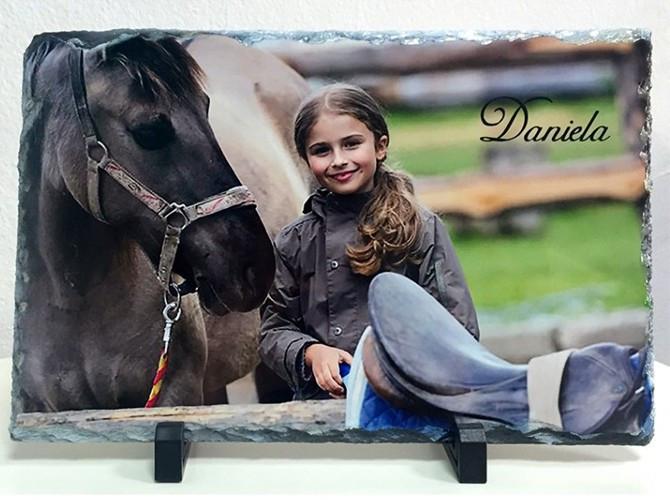 Portafoto piedra con foto personalizada