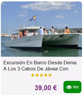 excursion barco denia