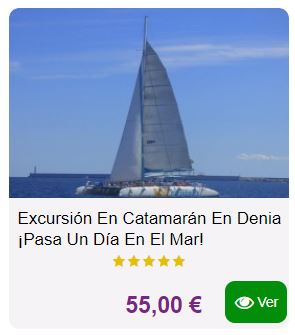 Excursion catamaran Denia