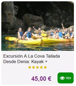 excursion cova tallada denia