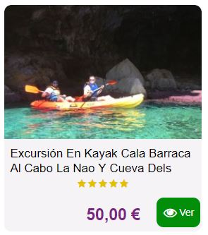 excursion kayak portixol javea